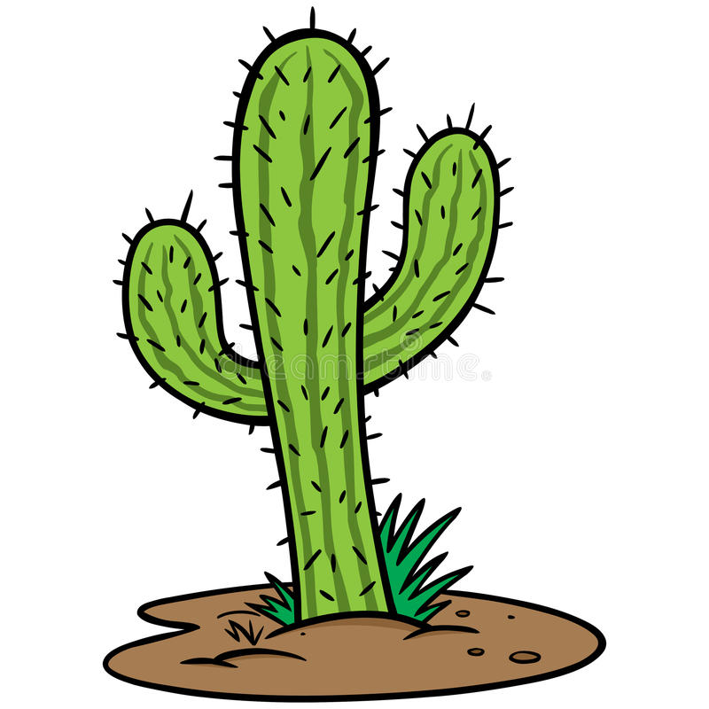 Cactus Tree. Cartoon illustration of a Cactus Tree