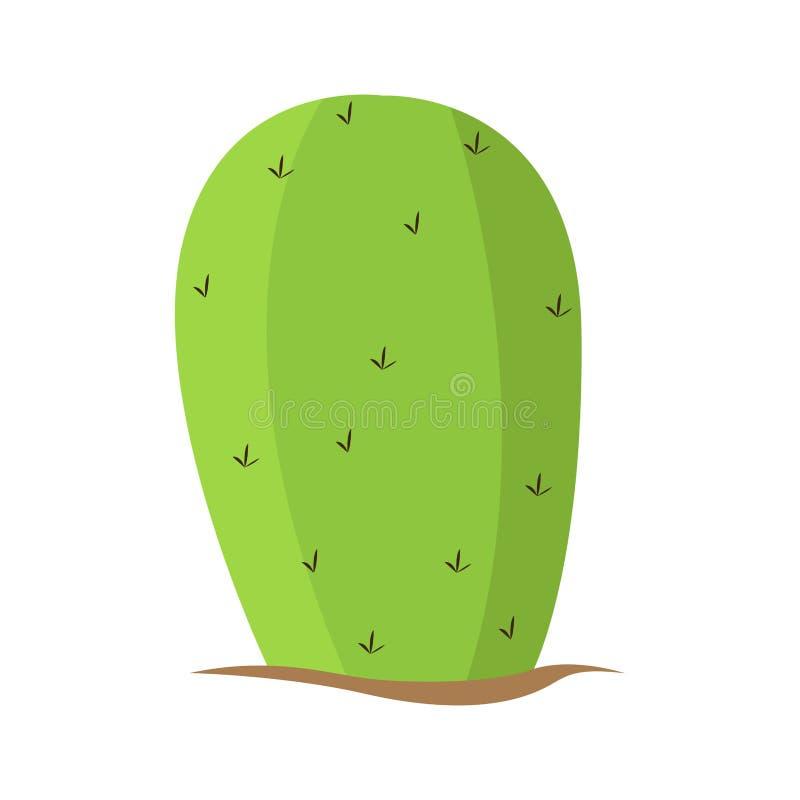 Cactus verde aislado ilustración del vector