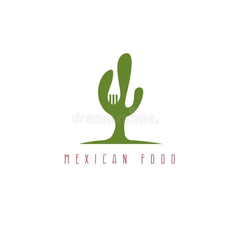 Cactus y diseño negativo del vector de espacio de la bifurcación stock de ilustración