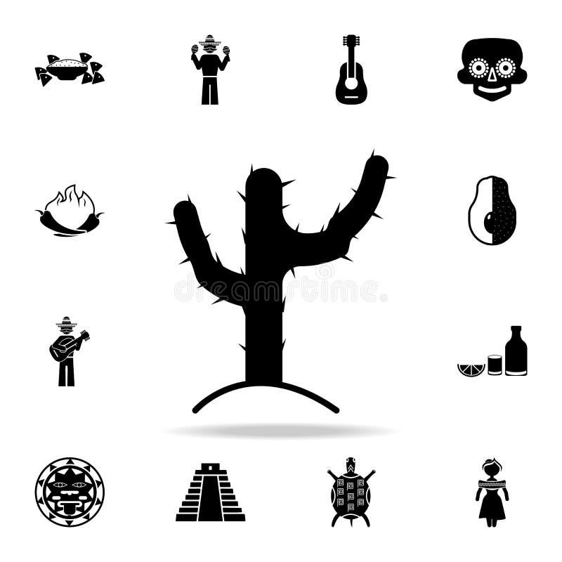 Cactuspictogram Gedetailleerde reeks de cultuurpictogrammen van elementenmexico Premie grafisch ontwerp Één van de inzamelingspic vector illustratie