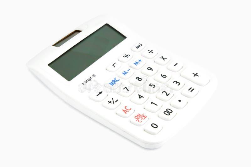 Caculator auf weißem Hintergrund stockfoto