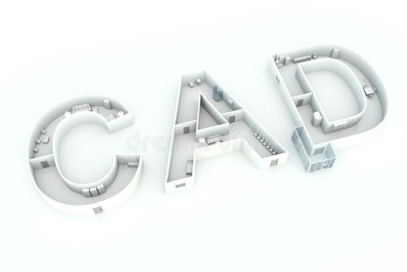 cad ilustração stock