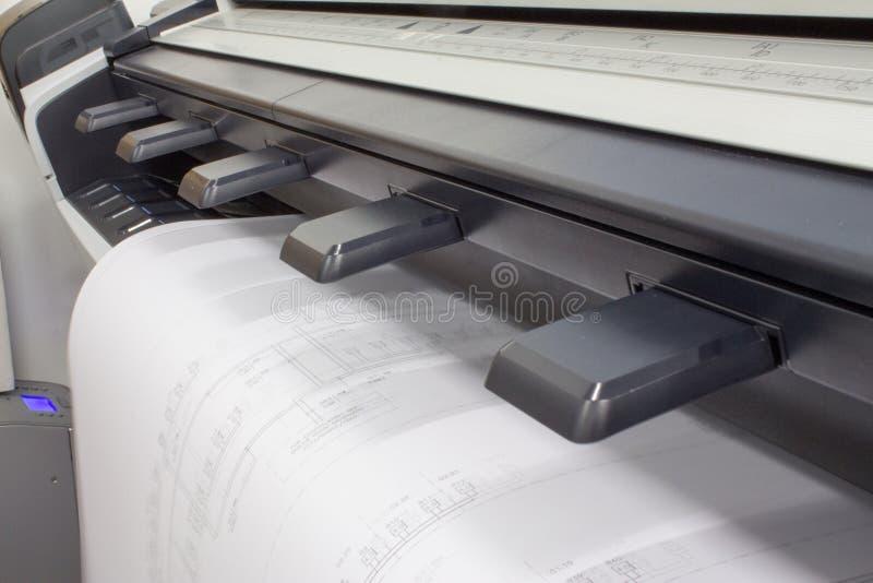CAD Plotter stock afbeelding
