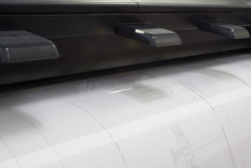 CAD Plotter royalty-vrije stock foto