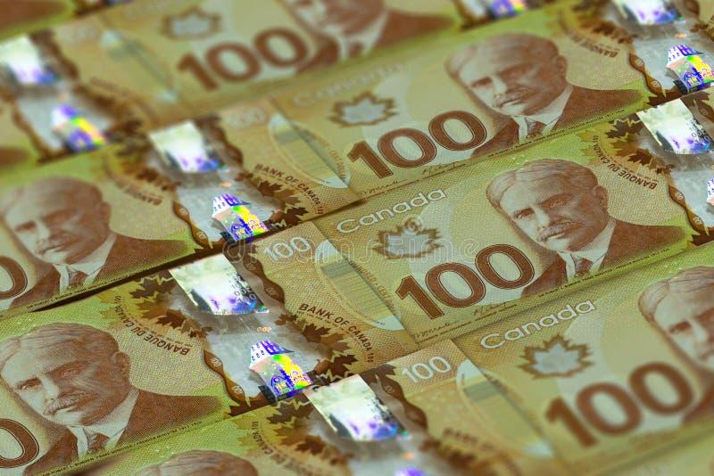 CAD Tło waluty kanadyjskiej Zdjęcie zamknięcia Dolary Kanady Ottawa obrazy stock