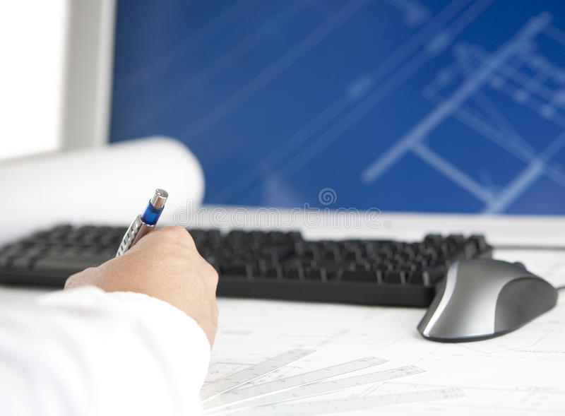 CAD workstation stock photography