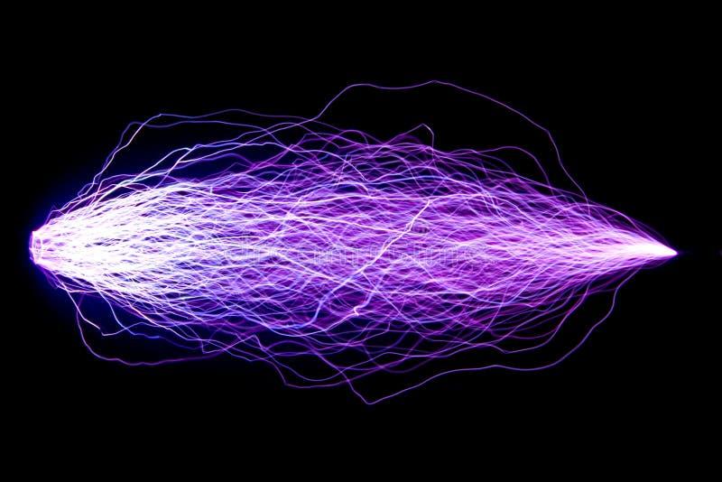 Cada descarga é feita entre os mesmos elétrodos Descargas h ilustração stock