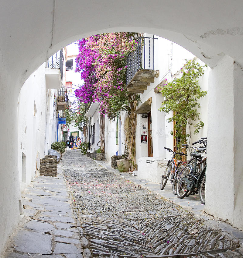 Cadaques,肋前缘Brava,西班牙 免版税库存图片