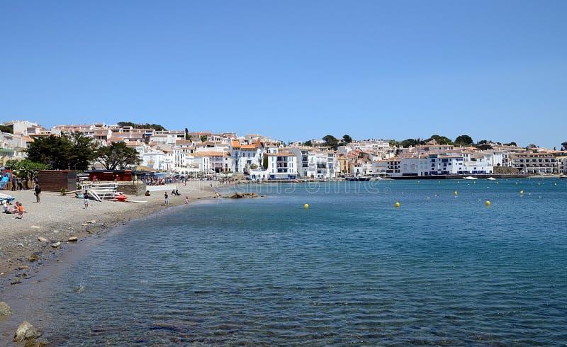 Cadaques Costa Brava, Spanien arkivbild