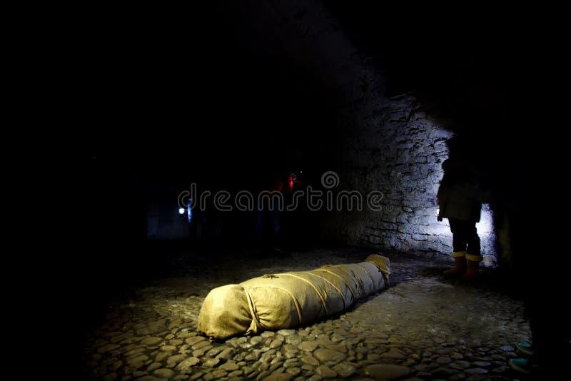 Cadavere avvolto immagine stock libera da diritti