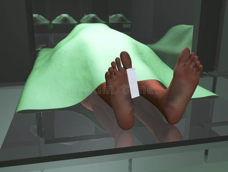 Cadavre dans la morgue illustration de vecteur