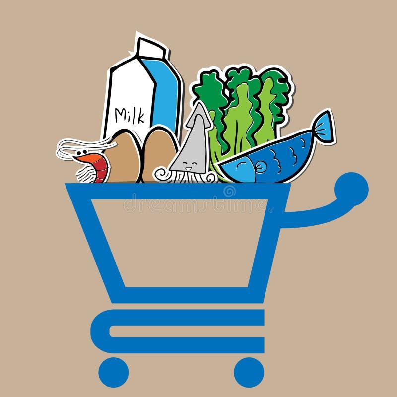 Caddie de nourriture illustration stock