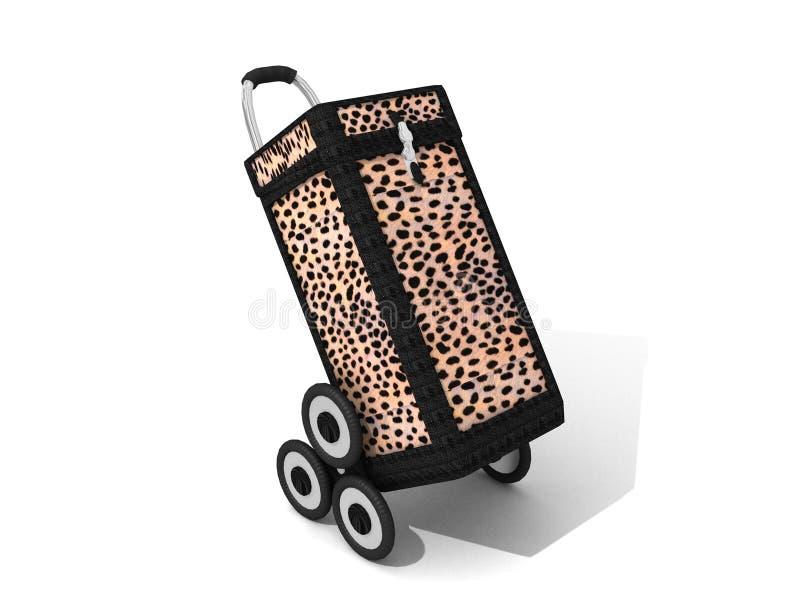 caddy leopard αγορές διανυσματική απεικόνιση