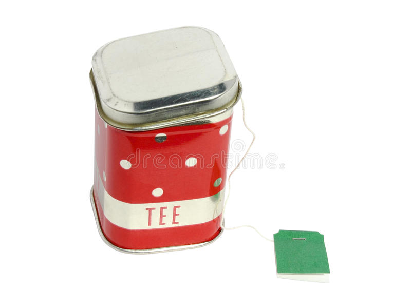 Download Caddy for tea with a label stock image. Image of healthy - 23537687