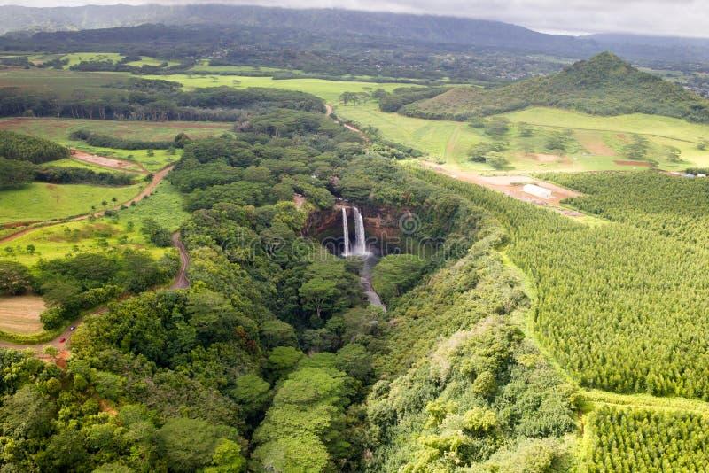cade il wailua del Kauai fotografia stock libera da diritti