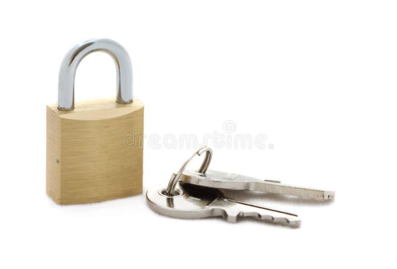 Cadeado com chaves imagem de stock royalty free