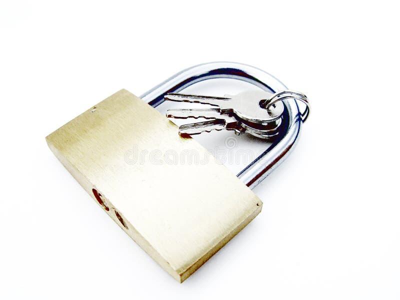 Cadeado com chaves foto de stock royalty free