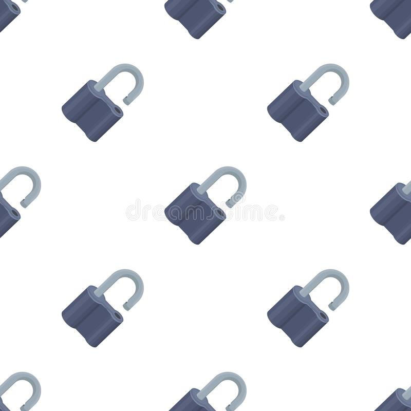 Cadeado cortado O desafio para que o descobridor resolva o crime Único ícone do detetive no símbolo do vetor do estilo dos desenh ilustração stock