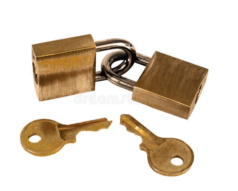 Download Cadeado do dobro imagem de stock. Imagem de chave, chaves - 66809