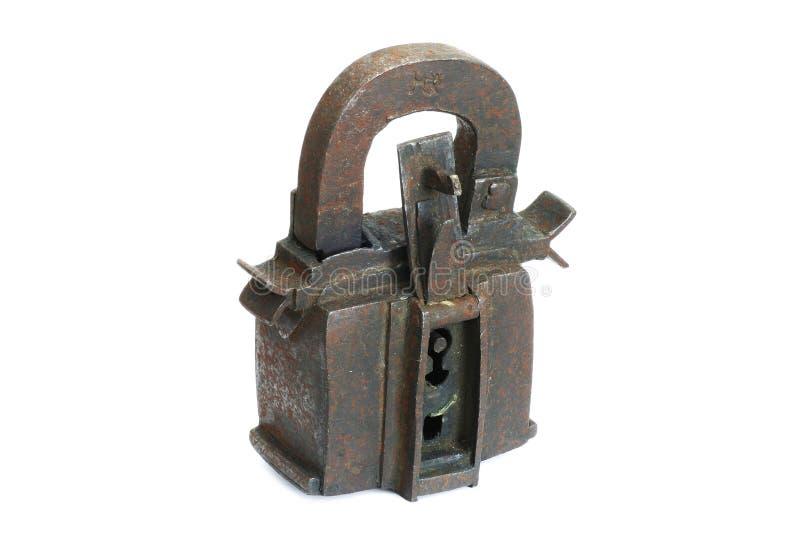 Cadeado do ferro fotografia de stock