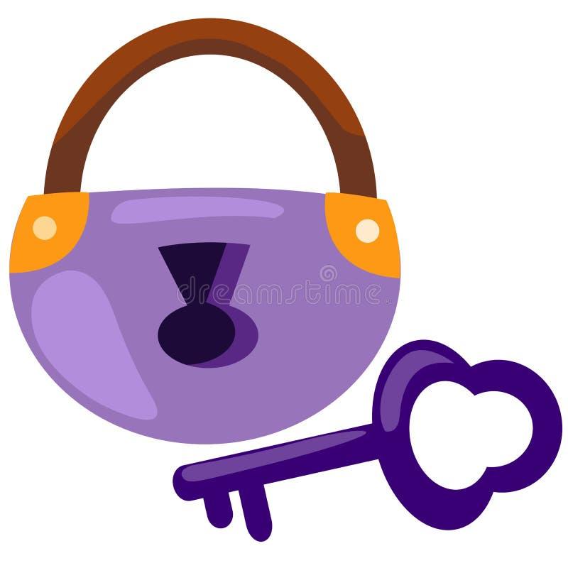 Cadeado e chaves ilustração royalty free