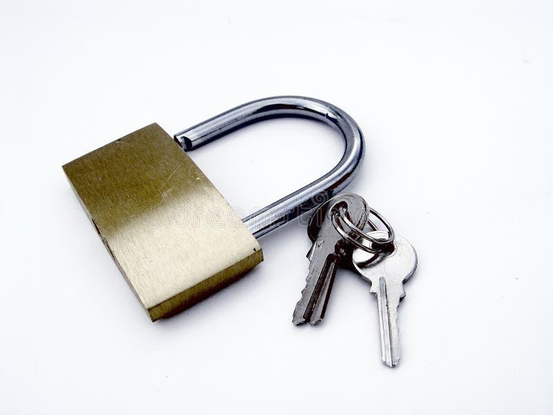 Cadeado e chaves imagens de stock