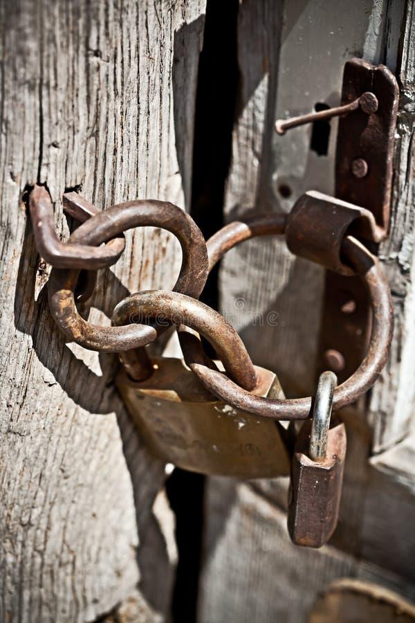 Cadeado oxidado imagem de stock royalty free