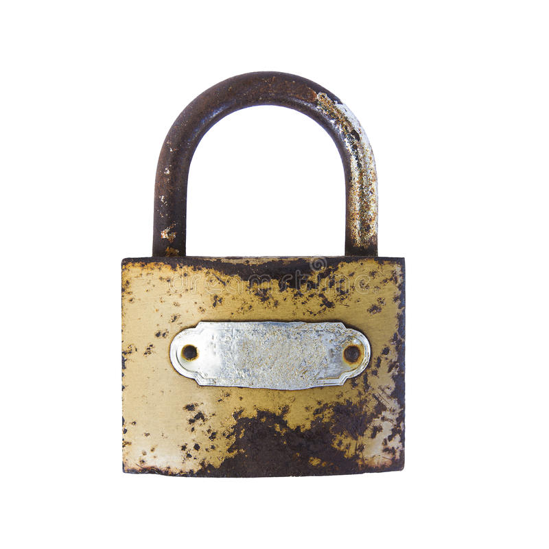 Cadeado oxidado imagem de stock