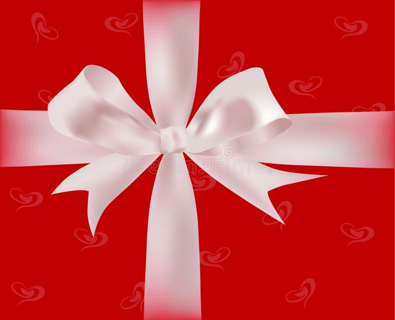 Cadeau avec des bandes illustration de vecteur