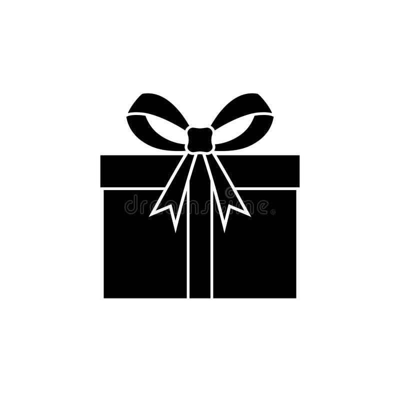 Cadeau avec une icône graphique de ruban illustration de vecteur