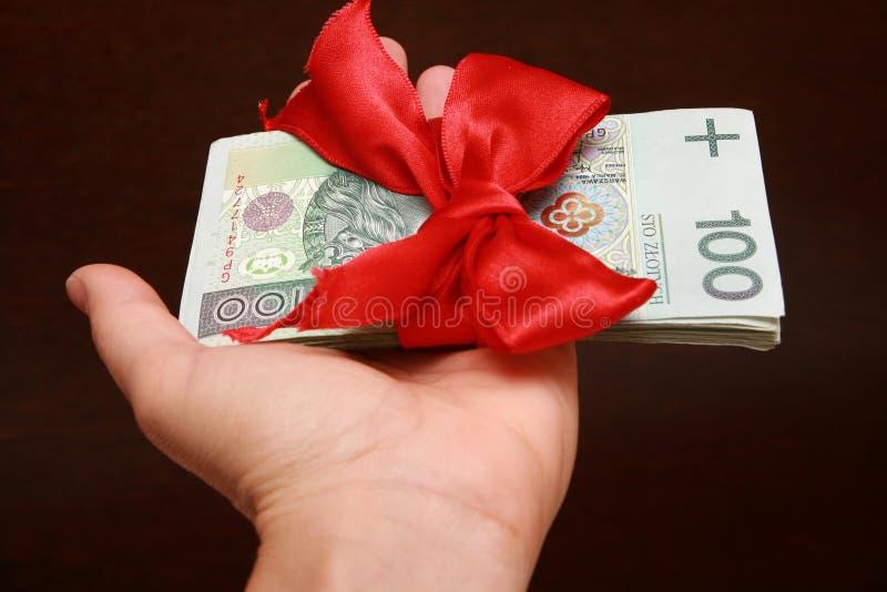 Cadeau d'argent photos libres de droits