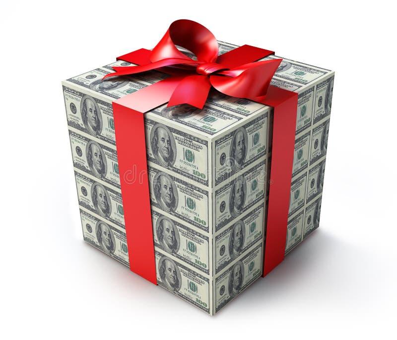 Cadeau d'argent illustration libre de droits