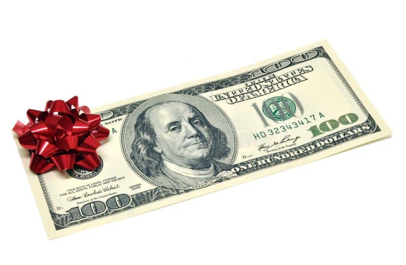 Cadeau d'argent photos stock