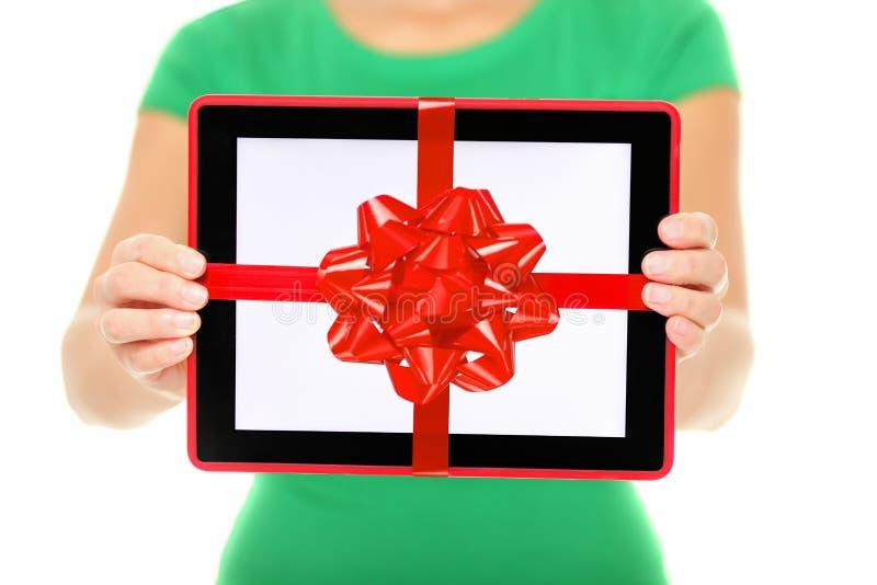 Cadeau d'ordinateur de tablette photo libre de droits