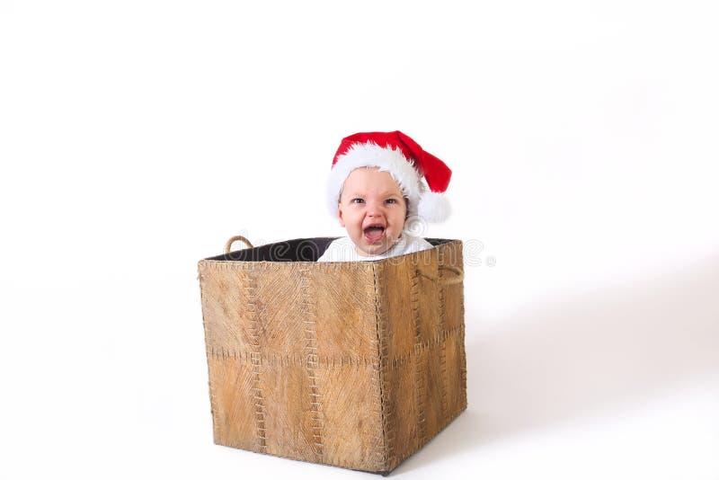 Cadeau de bébé de Noël photo stock