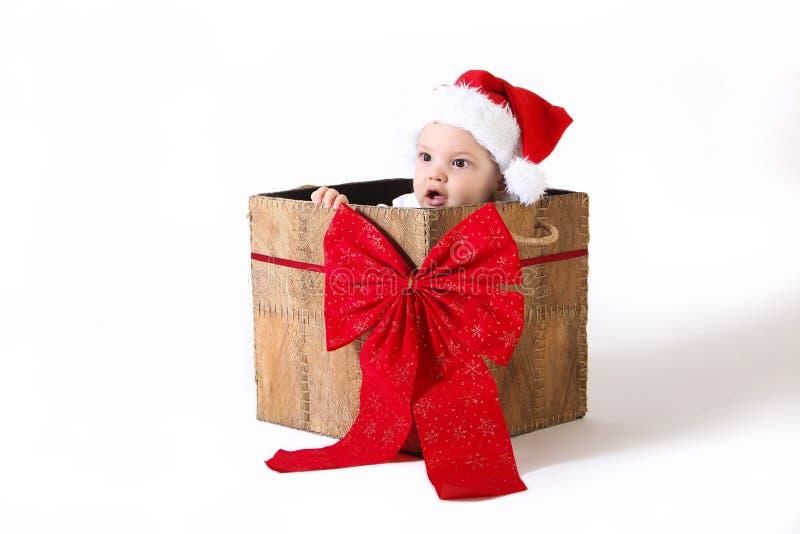 Cadeau de bébé de Noël images stock