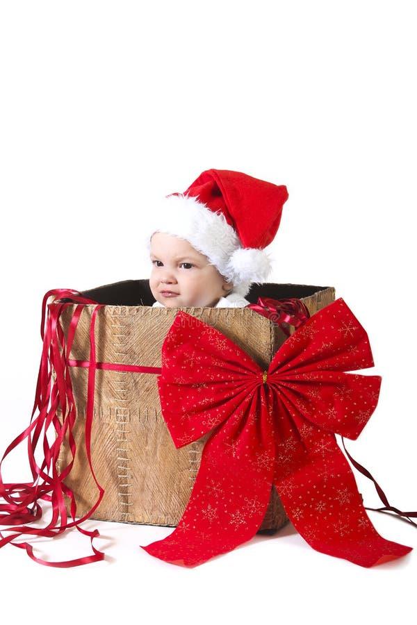Cadeau de bébé de Noël image stock