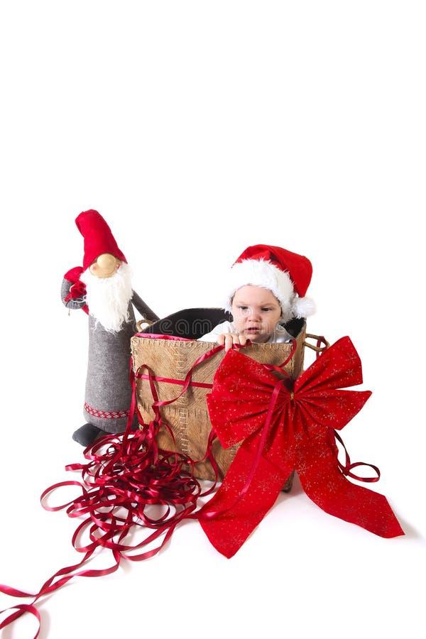 Cadeau de bébé de Noël photo libre de droits
