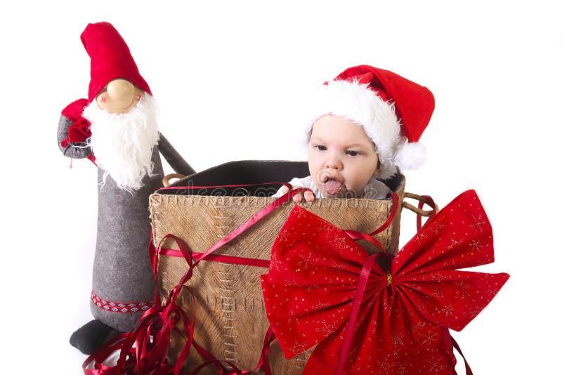 Cadeau de bébé de Noël photographie stock libre de droits