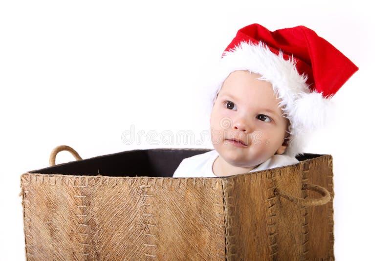 Cadeau de bébé de Noël photos libres de droits