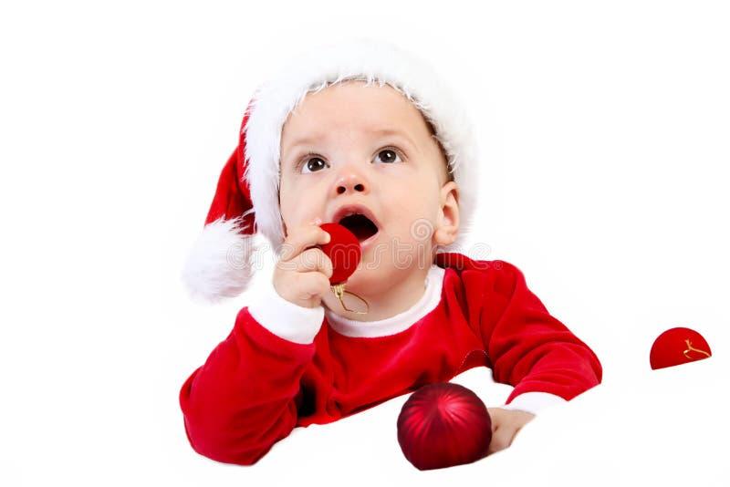 Cadeau de bébé de Noël photos stock