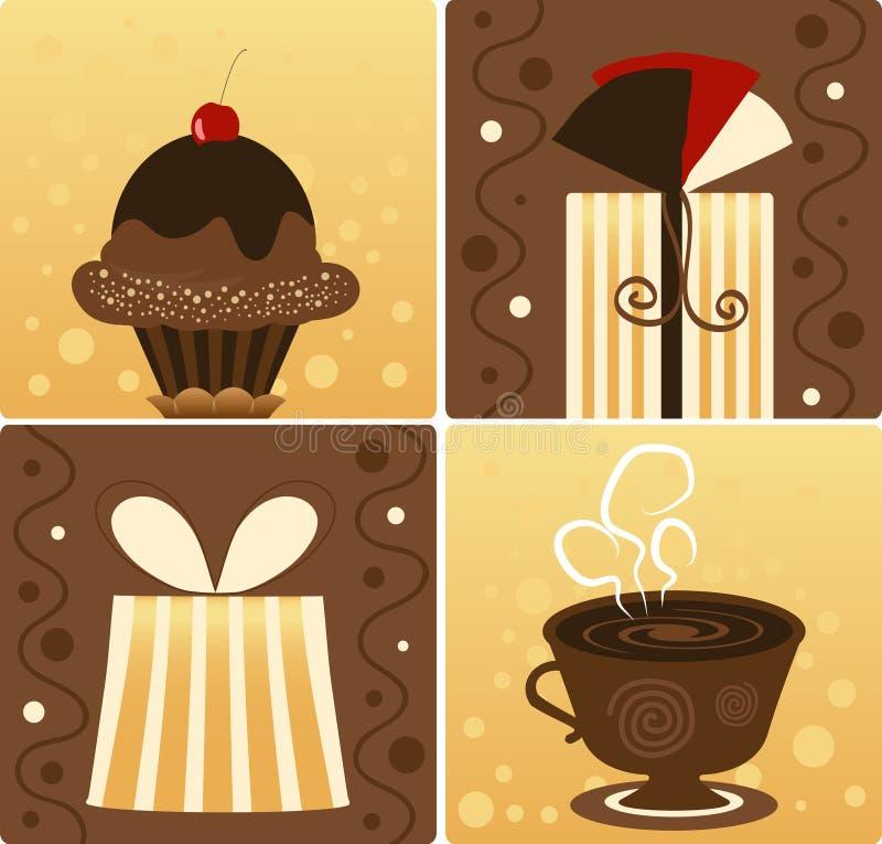 Cadeau de chocolat illustration de vecteur