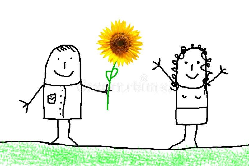 Cadeau de fleur illustration libre de droits