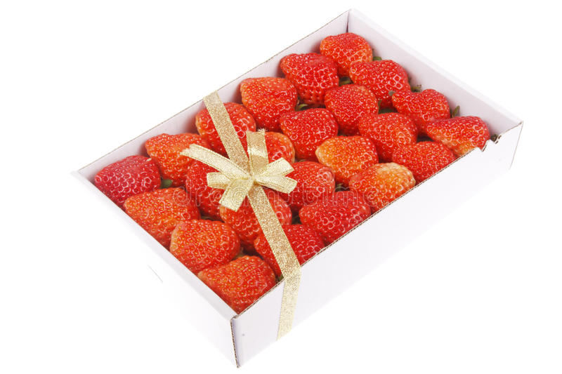Cadeau de fraise photo stock