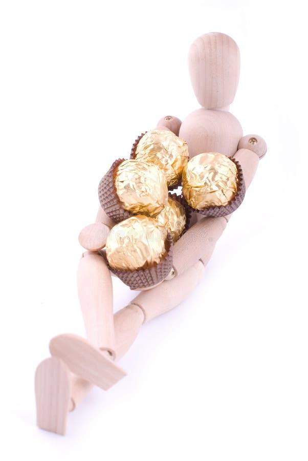 cadeau de la distribution de chocolat images stock