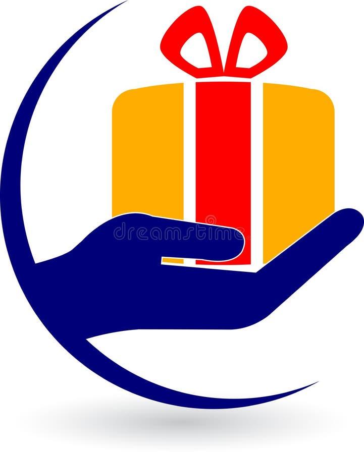 Cadeau de main illustration libre de droits