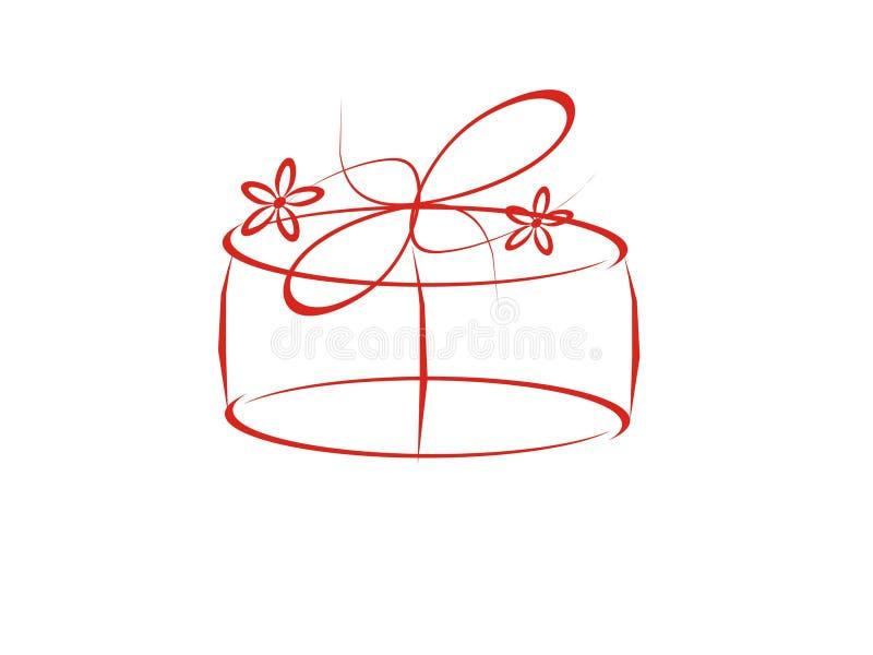 Cadeau de mariage illustration stock