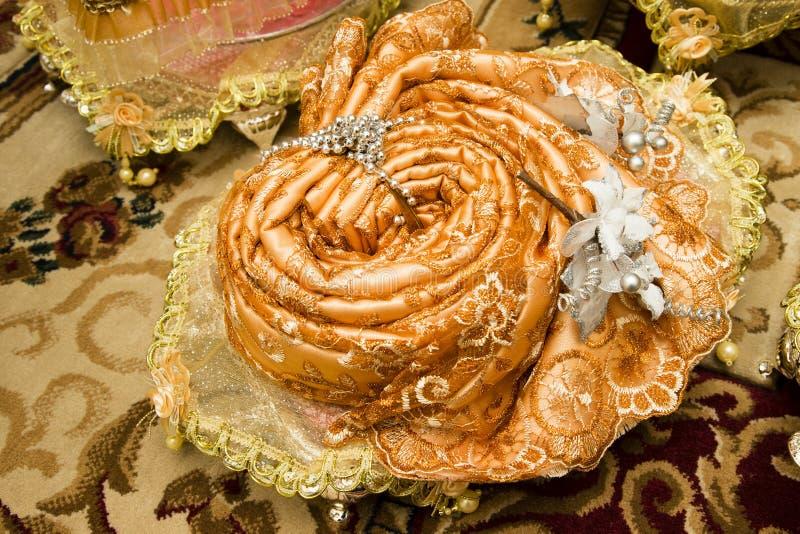 Cadeau de mariage malais traditionnel images stock