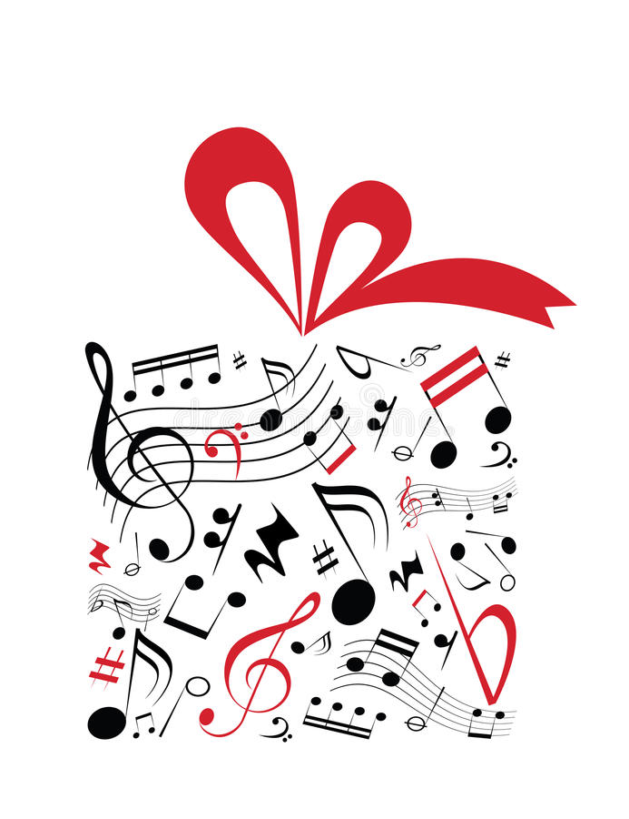 Cadeau de musique illustration de vecteur