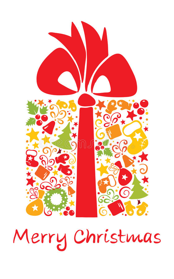 Cadeau de Noël illustration libre de droits